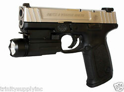 Aluminum 180 Lumen Flashlight For Smith and Wesson SD9VE 9mm accessories black. $39.95