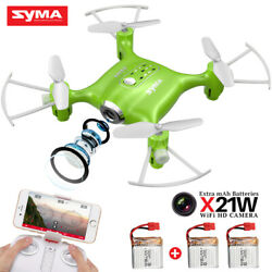 Pocket Drone Syma X21W 2.4G Mini RC Quadcopter with WIFI HD Camera FPV Real Time $49.99