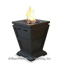 UF LP Gas Column Firepit Small by Blue Rhino (Uniflame Outdoor LP Gas Firepla)
