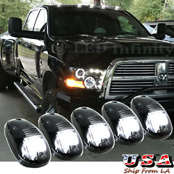 5x Smoked Lens Rooftop Cab Running Light LED 6000K for Dodge RAM 1500 2500 3500 $51.10