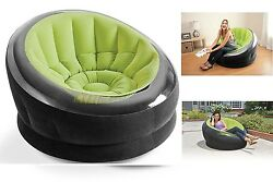 Antique Empire Chair Patio Inflatable Sofa Luxury Relaxing Outdoor Couch Green