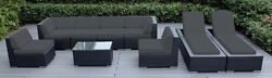Genuine Ohana Outdoor Sectional Sofa and Chaise Lounge Set 2 Free COVERS