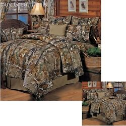 Realtree All Purpose Camo Comforter Set Bed In Bag Camouflage Bedding Queen New
