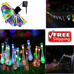 Solar Outdoor Led Lamp String Lights Yard Patio Garden Home Tree Waterproof