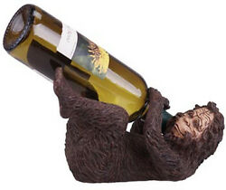 BIG FOOT WINE HOLDER Great Wine Drinker Gift Idea or Cabin Log Home Decor Rustic
