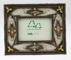 Set of Two FRAME BIRCH TWIG FISH 4