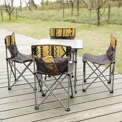 New Folding Fishing Chair Table Set Camping Fishing Outdoor Aluminum Table Set