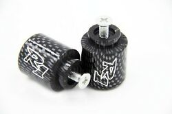 Carbon For Yamaha quot;R1quot; Engraved Bar Ends Weights Sliders For YZF R1 1998 2012 $7.91