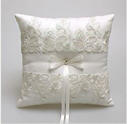 Western Style Elegant Rose White Lace Wedding Pillow Cushion Wedding Party Decor