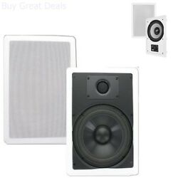 Ceiling In Wall Speakers Theater Solutions CS8W 8 Inch Polypropylene Wall $67.99