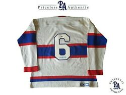 Toe Blake Custom Signed Montreal Canadiens Vintage Wool Jersey PRIZEAUCTIONS_COM