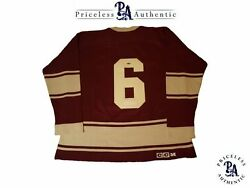 Toe Blake Custom Signed Montreal Maroons Vintage Wool Jersey PRIZEAUCTIONS_COM
