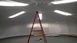 50' Geodesic Dome Frame 2000 sq ft 13.5' high center Burning Man Greenhouse