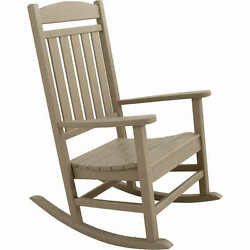Ivy Terrace Rocking Chair Patio Rocker Grey Poly Wood Classic Furniture Outdoor