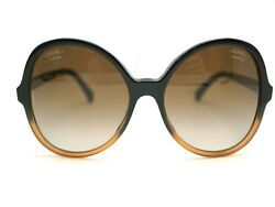 CHANEL Auth 5351 Sunglasses Black Brown Gradient Butterfly Ladies FS Mint #0924