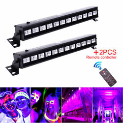 2PCS 36W UV LED Stage Lighting Black Wall Wash Bar Lamp Party Disco Club Remote $58.89