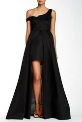 NEW ISSUE NEW YORK Mesh Overlay GOWN DRESS Size M 6 8 $478 BLACK NORDSTROM $239.00