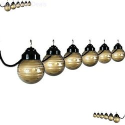 Deck Patio Light Black Bronze Set Globe String Coiled House Home Decor Awning
