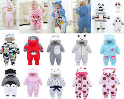 newborn baby winter warm padded clothes baby girls boys winter thick outfits $14.99