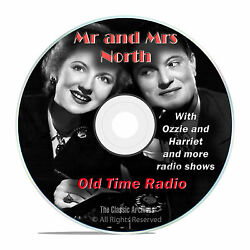 Mr and Mrs North 584 Classic Old Time Radio Shows Mystery Drama OTR mp3 DVD G28 $6.99