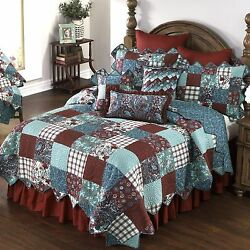 Donna Sharp Abilene Quilted King 5-Piece Country Cottage Bedding Ensemble