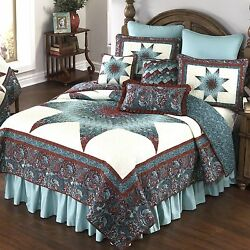 Donna Sharp Abilene Star Quilted King 5-Piece Country Cottage Bedding Ensemble