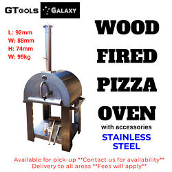 Large Stainless Steel Wood Fire Pizza Oven Out Door BBQ-4 Pizza smoke Pork