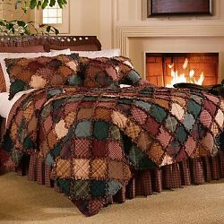Donna Sharp Campfire Quilted Cotton King 5-Piece Country Cabin Bedding Ensemble