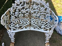 Antique Cast Iron Garden Lawn Furinture bench- loveseat  and chair