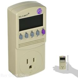 P3 P4400 Kill A Watt Electricity Usage Monitor Calculates Electrical Expenses $38.99