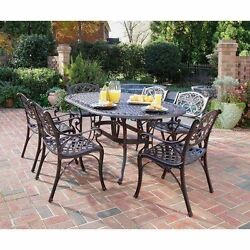 Outdoor Dining Set Metal Rust Table Chairs Furniture Clearance Patio Garden 7 Pc
