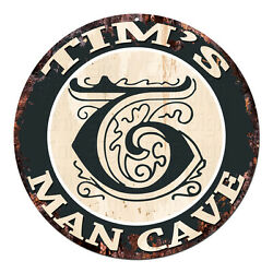 CPMC 0170 TIM#x27;S MAN CAVE Rustic Chic Tin Sign Man Cave Decor Gift Ideas $23.95