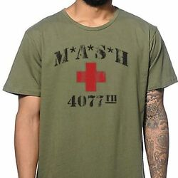 MASH 4077th tv Division Vintage Style Distressed citcom ARMY GREEN T SHIRT $16.95