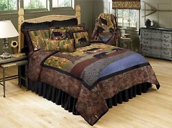 Donna Sharp The Little Cabin Country Quilted King 8-Piece Bed Ensemble