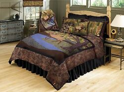 Donna Sharp Elk River Country Cabin Quilted Cotton King 7-Piece Bed Ensemble