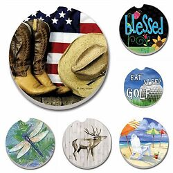 Absorbent Stone Car Coasters by CounterArt Singles Buy 2 or More