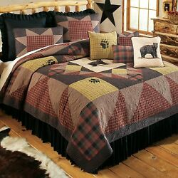 Donna Sharp Bear Paw's Country Quilted Cotton King 8-Piece Bedding Ensemble