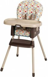 Graco High Chair SimpleSwitch Twister Infant Toddler 2-in-1 Convertible Plastic