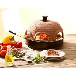 Electric Pizza Oven Party Outdoor Patio Indoor Portable 6 Person Mini Pizza S