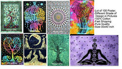 Tie-Dye Tapestry Hippy Wall Hanging Decor Art Cotton Posters Wholesale Lot 100Pc