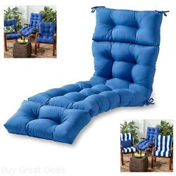 Lounge Chair Cushion Outdoor Seat Padding Tufted Mattress Pool Patio Deck