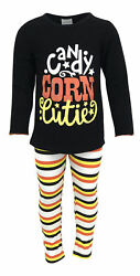 Girls Halloween Outfit Boutique Toddler Kids Clothes 2t 3t 4t 7 8 Leggings Set $14.99