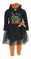 GirlsBlack Cat Halloween Costume Outfit Boutique Toddler Kids Clothes 2t 3t 4-8 $14.99