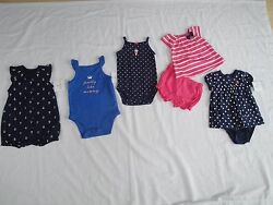 Carter#x27;s Summer girls clothing Lot of 4 Size: 3 Months $19.99