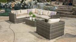 7-Pc Outdoor Sectional Set in Cuba Gray [ID 3515034]
