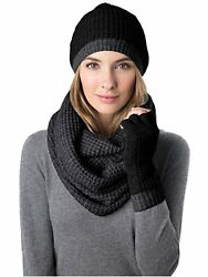 Women's Winter Cashmere Wool Scarf Gloves and Hat Set One Size