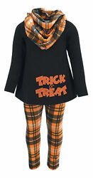 Girls Plaid Halloween Outfit Boutique Toddler Kids Clothes Top Leggings 2t 3t US $15.99
