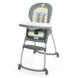 Ingenuity Trio 3 In 1 Plastic High Chair Ridgedale For Baby's Safe Feeding New!