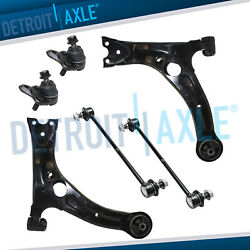 6pc Front Lower Left & Right Control Arm Sway Bar for Toyota Corolla Matrix Vibe
