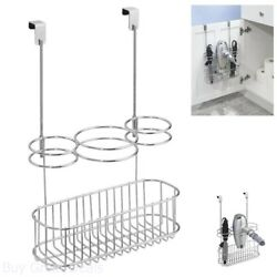 Over Cabinet Hair Care Organizer Station For Girls Tools Storage Chrome New $24.99